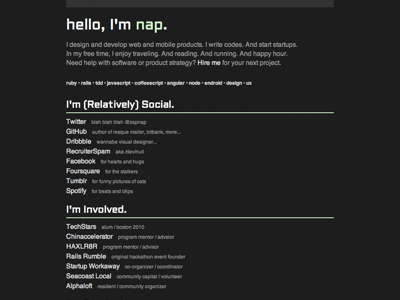 Minimalist personal page redesign 0813 home page personal page links minimalist dark