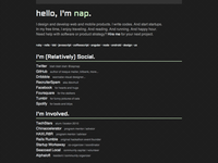 Minimalist personal page redesign 0813