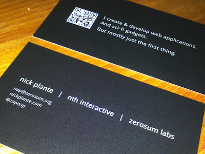 New business card design business card