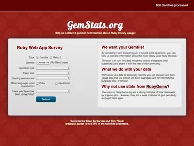 GemStats.org mini-site survey