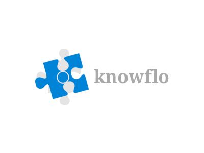 Knowflo logo concept logo