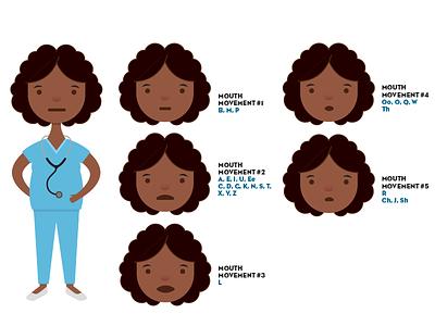 Healthcare Worker animation vector