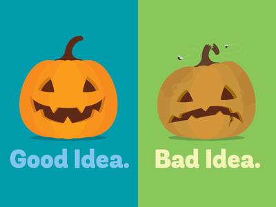 Pumpkins bad idea good idea rotting flies pumpkins halloween