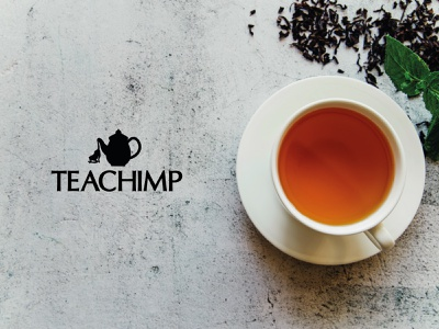 TeaChimp Concept chimpanzee monkey teapot tea chimp logotype illustrator icon concept type design brand branding logo identity