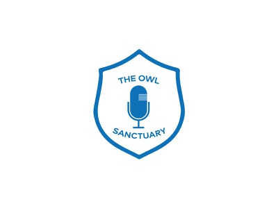 The Owl Sanctuary (Unused Concept) icon creative illustrator microphone branding brand shield identity logo sheffield owl