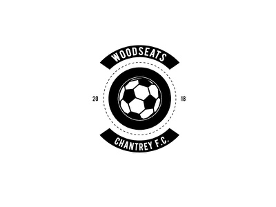 Woodseats Chantrey F.C. identity branding type circle sport logo badge crest icon soccer football