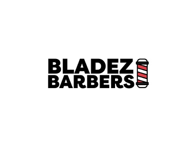 BladezBarbers barber shop barber logo typography vector ident mark illustrator hair care hair barber logotype creative icon concept type design brand branding logo identity