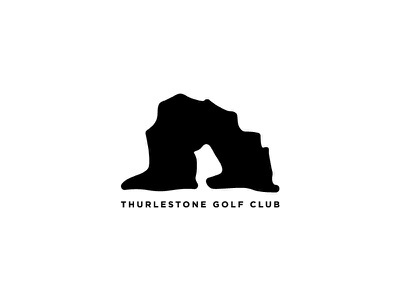 Thurlestone Golf Club graphic design logotype modern logo branding brand ident mark shape identity design logo club golf