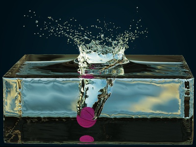 Splash render realflow krakatoa c4d 4d cinema foam bubbles 3d water vfx motion graphics