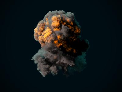 Explosion houdini