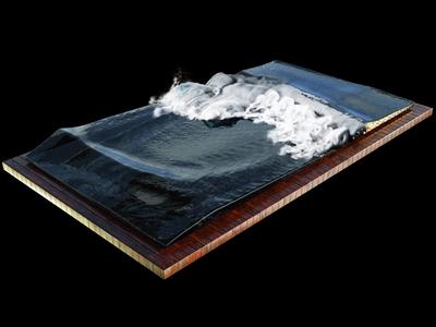 Ocean Waves krakatoa octane render cinema 4d houdini