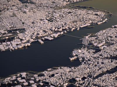 Halifax octane c4d render nova scotia halifax canada earth 3d city map