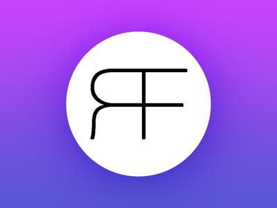 RiFi logo brand gradient circular monogram