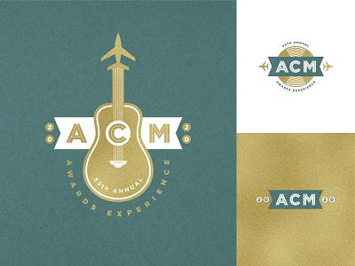 ACM Awards Logos 2020 jet vinyl record vinyl aviation mark music icon illustration branding logo
