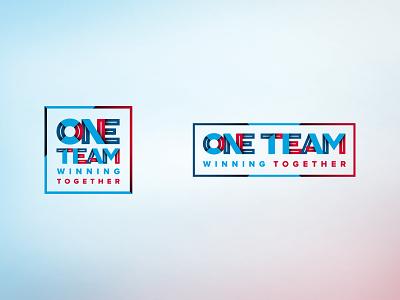 One Team Branding branding design teamwork patriotic type typography logo branding