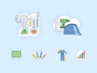 Lil set of icons icon set spot illos iconography illustration icon
