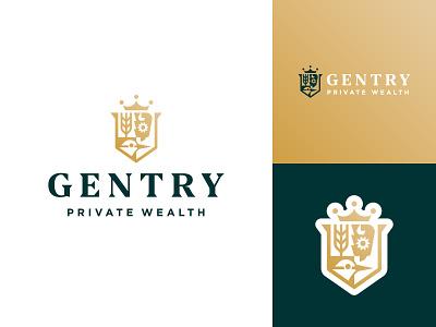 Gentry Private Wealth coatofarms wealth kansas wichita badge crest logo branding financial finance