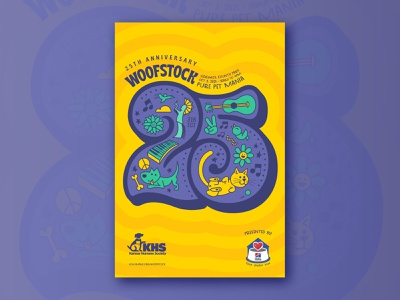 Woofstock 25 – Concept 1 animals pets poster event illustration