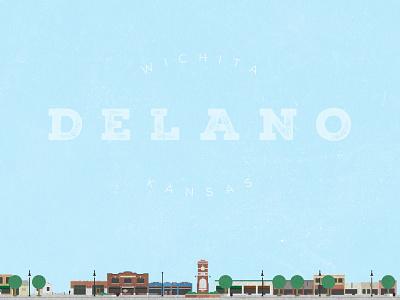 Delano delano wichita kansas city illustration