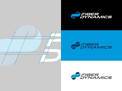 Fiber Dynamics Logo manufacturing branding logo mark infinity mobius