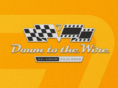 Down to the Wire Emblem Concept checkered flag branding event racecar car festival film racing race logo emblem