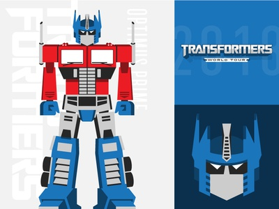 Optimus Prime robot transformers optimus prime flat illustration