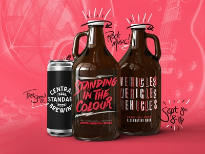 CSB Gig doodles event can crowler growler rock beer music
