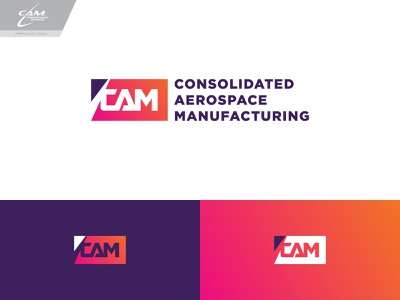 CAM Logo Concept 4 logo branding typography type wordmark aviation aerospace gradient
