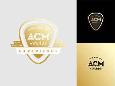 ACM Awards Logos art deco aviation acm awards guitar pick mark music branding logo