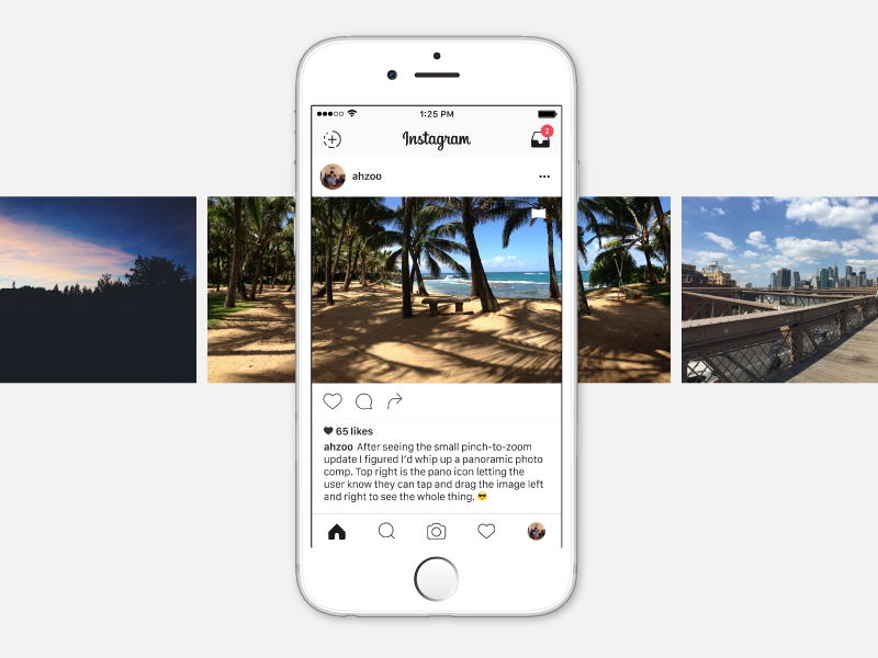 Instagram Panorama Concept by Ryan Azucena on Dribbble