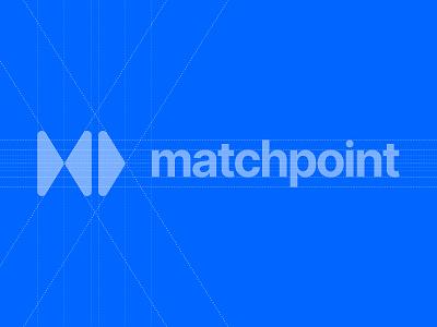 MatchPoint Branding grid logo blueprint mark brand identity typography design logo branding brand