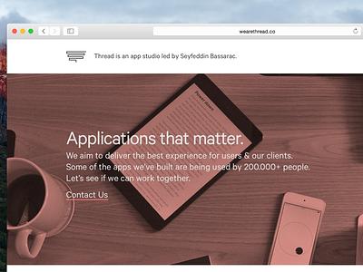 Thread Website istanbul application ios website