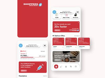 Shoppers Drug Mart UI Redesign ux illustration mobile design app