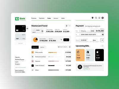TD Bank Dashboard Concept Design ui ux mobile illustration design app