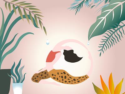 Yoga girl branding girl vector graphics design illustration ill