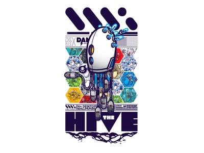 The Hive - Preview mechanical robot wallpack vector hive