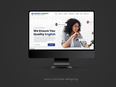 CORPORATE WEBSITE FOR ENSURE ACADEMY. typography ux ui app vector logo illustration graphic design branding design