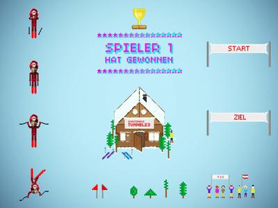 Pixelart skiing game