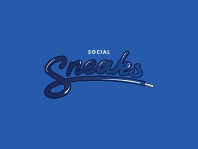 Social Sneaks branding logo chat sneakers sneaks social