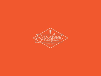 Barefoot Flooring Company branding logo flooring company flooring barefoot