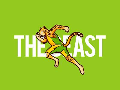 Cheetah Trail Running Character team gaming graphic design illustration vector logo dribbble design branding mascot character