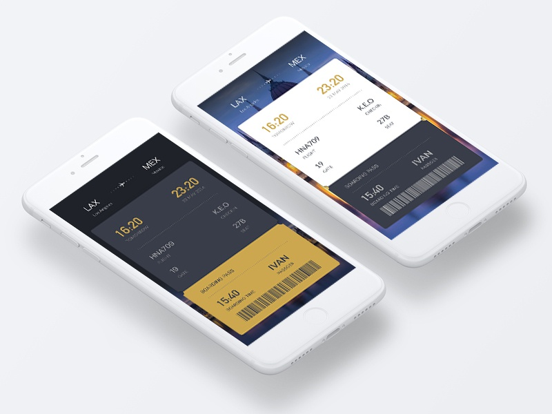 Daily Ui card airline booking tickets