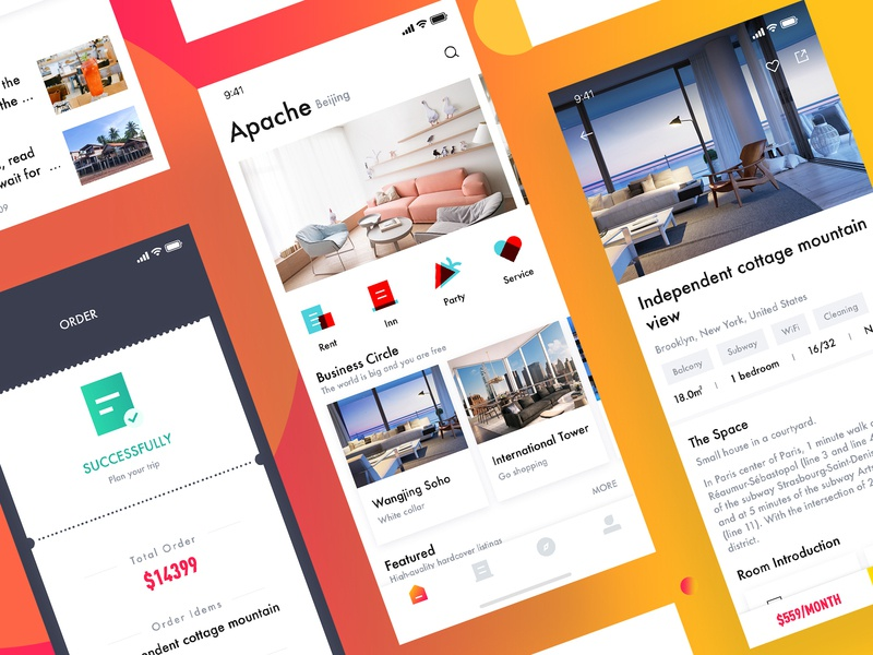 Renting house app by Ivan for B&B on Dribbble