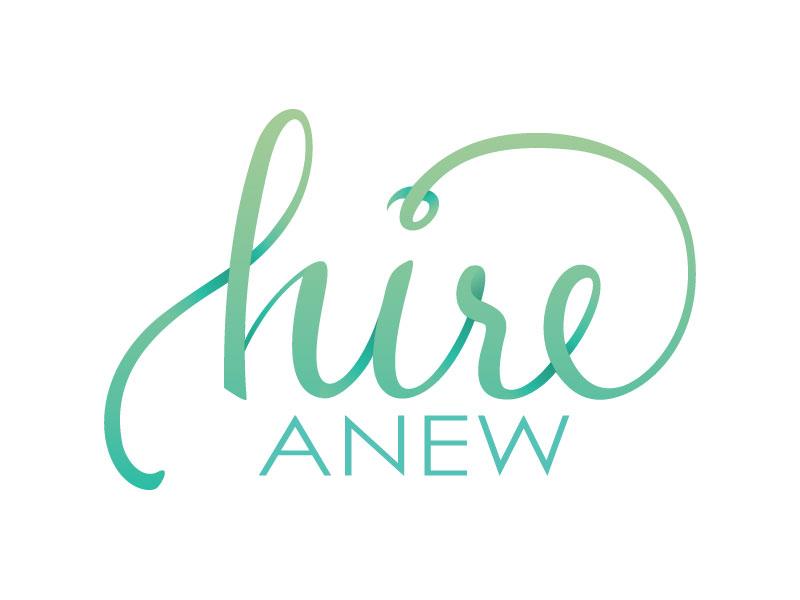 Hire Anew Logo Design logo vector type gradient branding identity lettering shading logotype aqua blue green