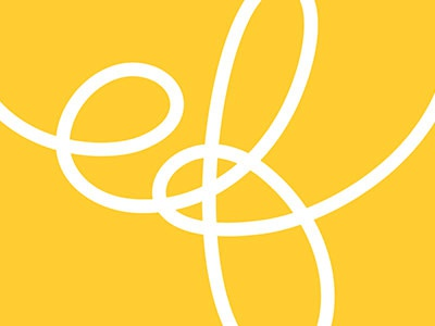 Logo Concept knot loop lettering logo yellow