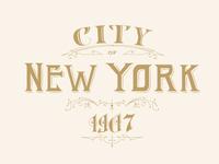 Lettering New York 1907