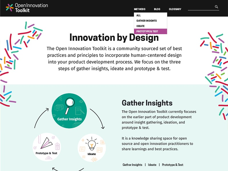 Website for Open Innovation Toolkit website