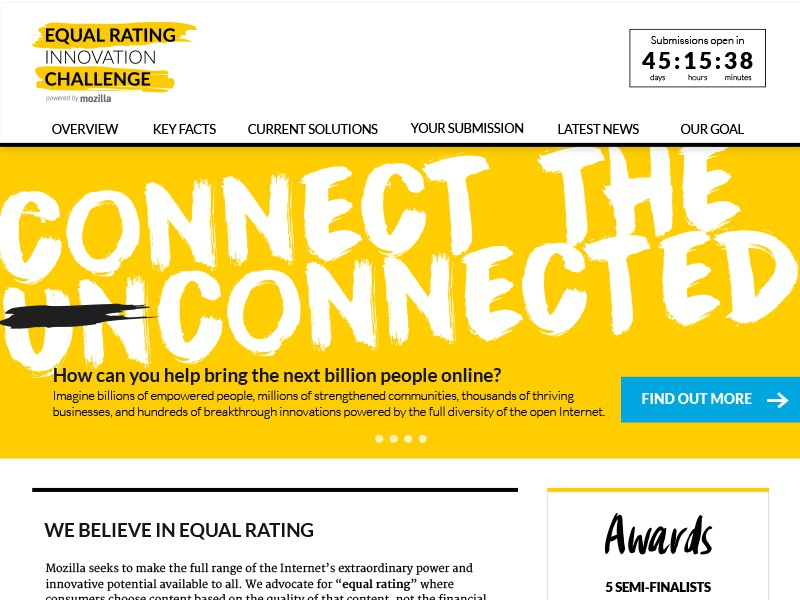 Equal Rating Innovation Challenge clean connect access equal rating website