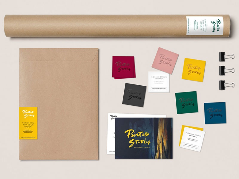 Painted Stories Branding craft identity brand stationary branding