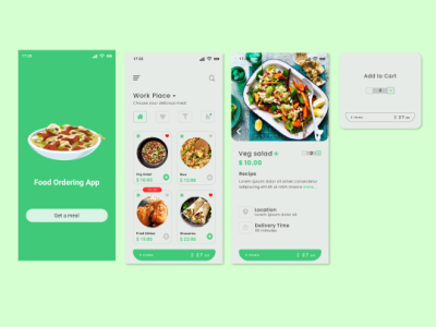 Food Ordering app design food app designer ui  ux ui figma design